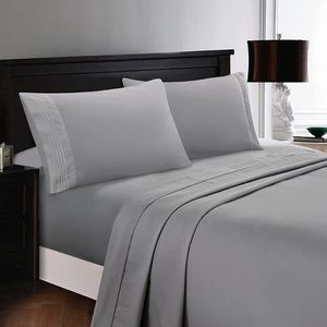 ⭐️SALE⭐️King 6pc Light Grey Bedsheets